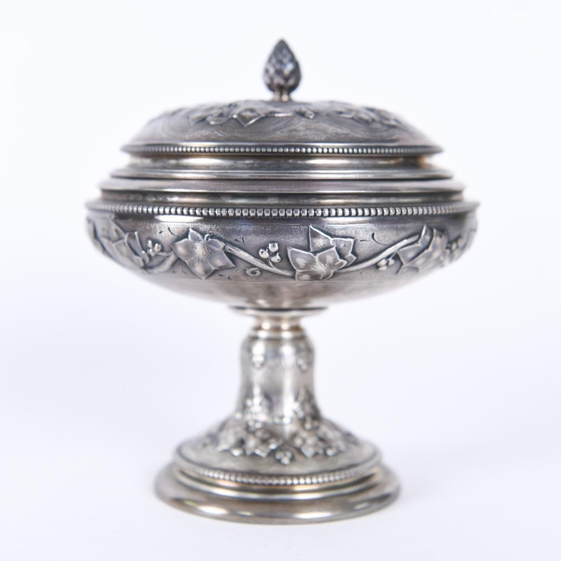 TIFFANY & CO OLD SILVER LIDDED COMPOTE