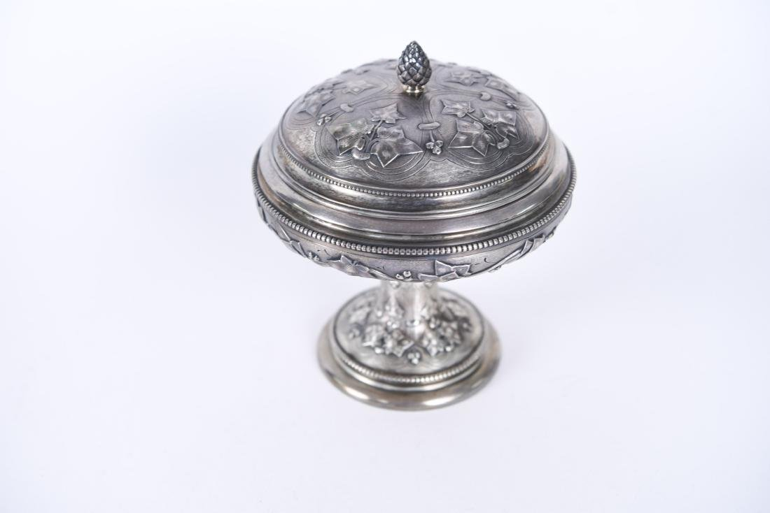 TIFFANY & CO OLD SILVER LIDDED COMPOTE - 2