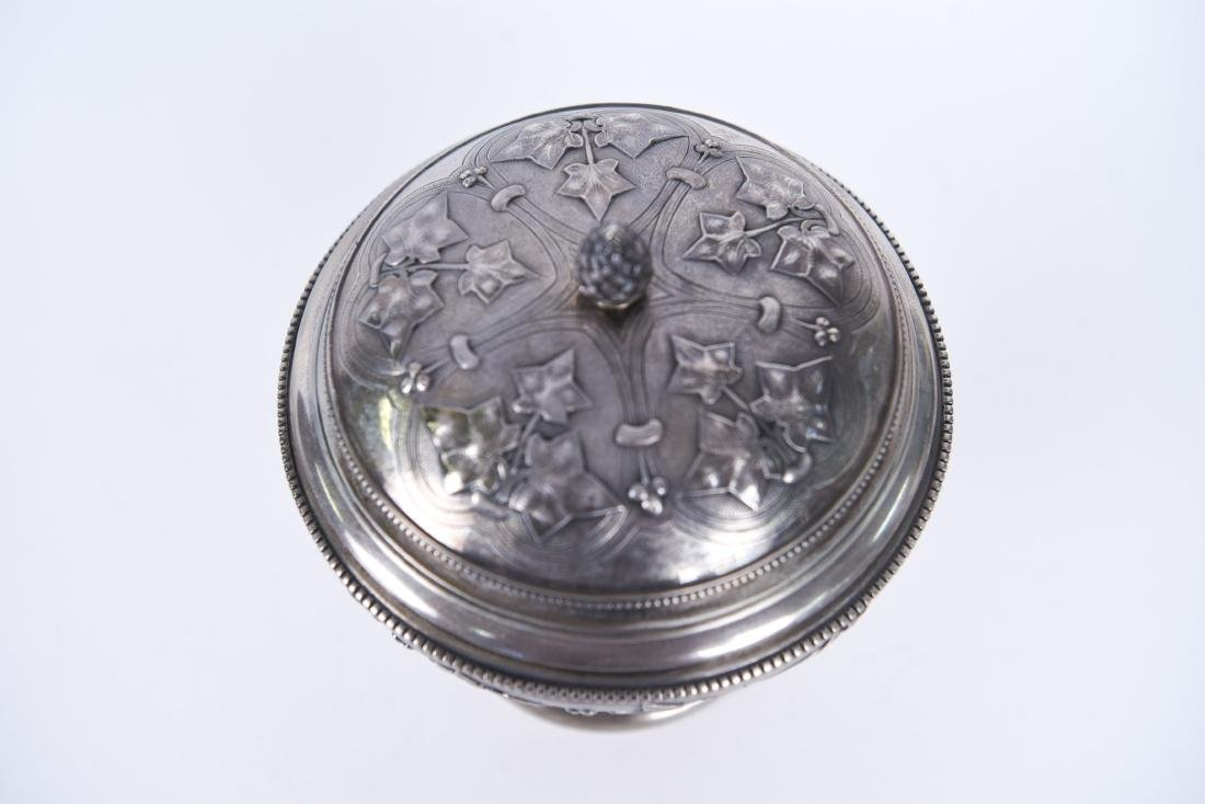 TIFFANY & CO OLD SILVER LIDDED COMPOTE - 3