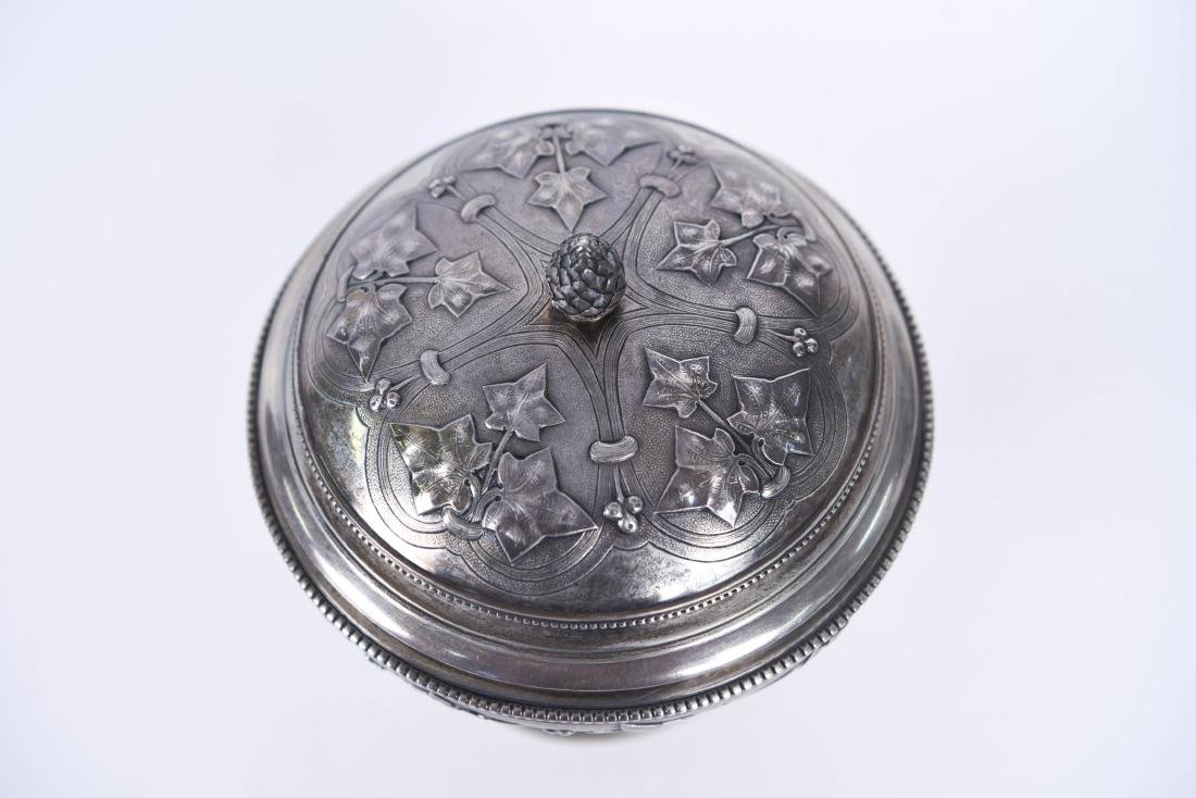 TIFFANY & CO OLD SILVER LIDDED COMPOTE - 4