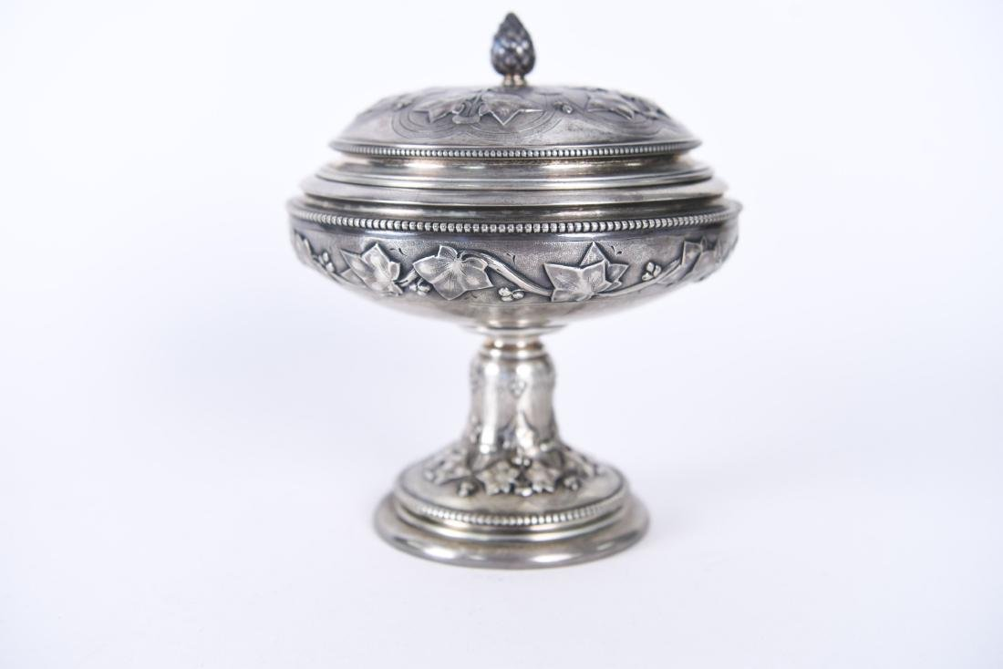 TIFFANY & CO OLD SILVER LIDDED COMPOTE - 7
