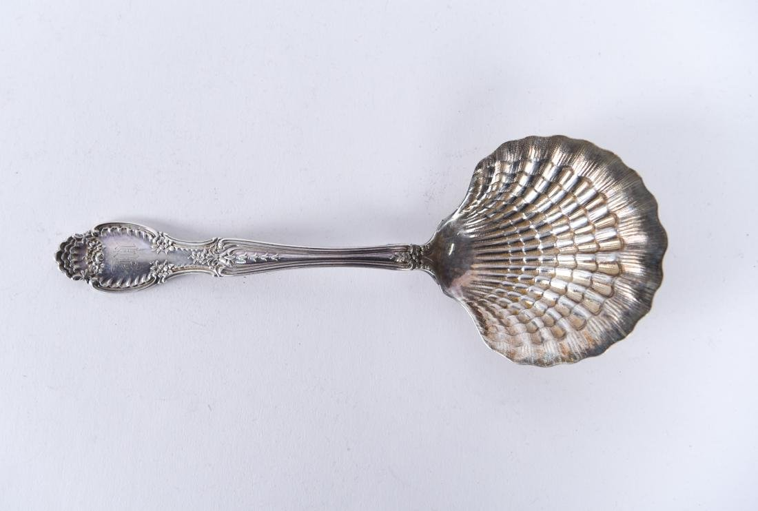 TIFFANY & CO. STERLING SILVER SHELL SERVING SPOON