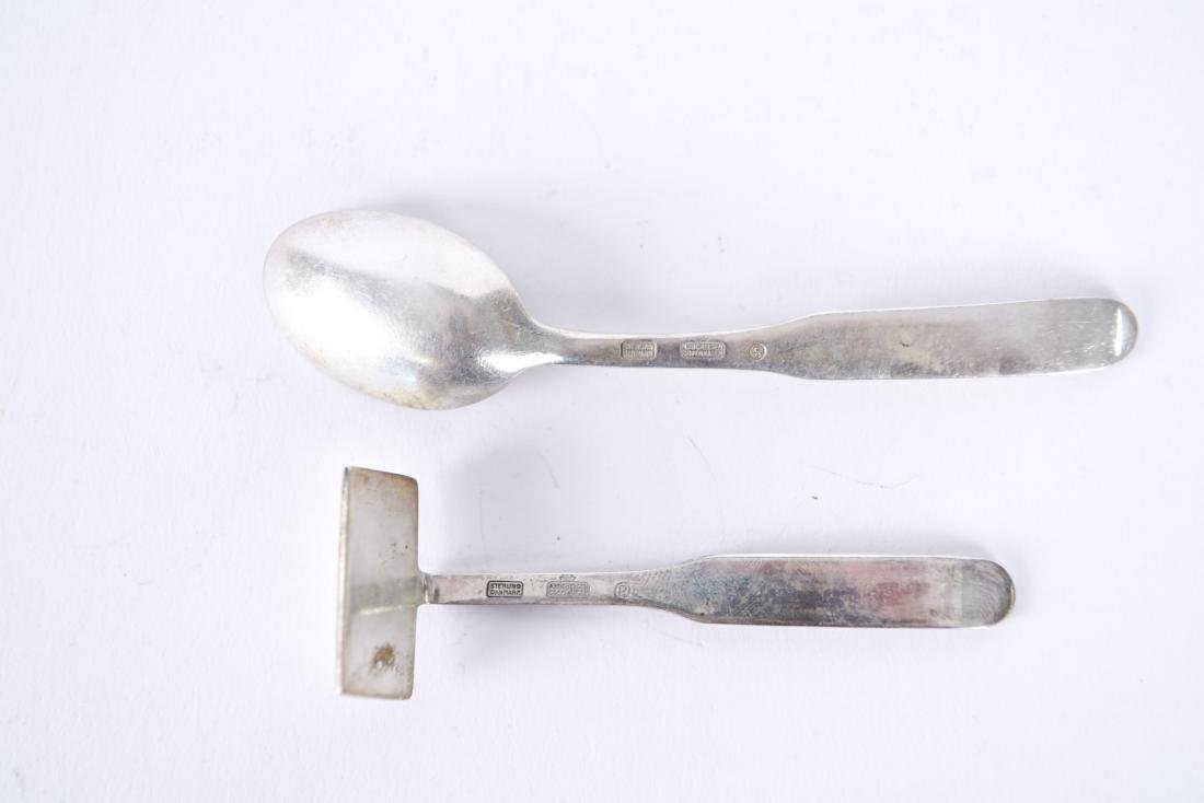 A. MICHELSEN DANISH STERLING SPOON & CRUMBER - 5