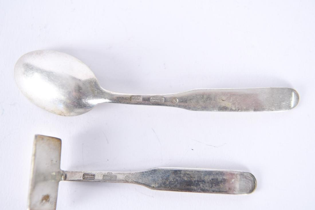 A. MICHELSEN DANISH STERLING SPOON & CRUMBER - 6