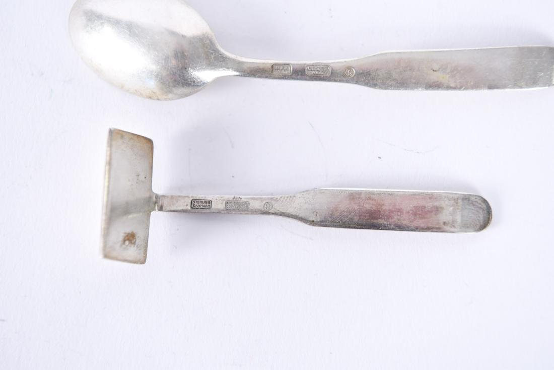 A. MICHELSEN DANISH STERLING SPOON & CRUMBER - 8