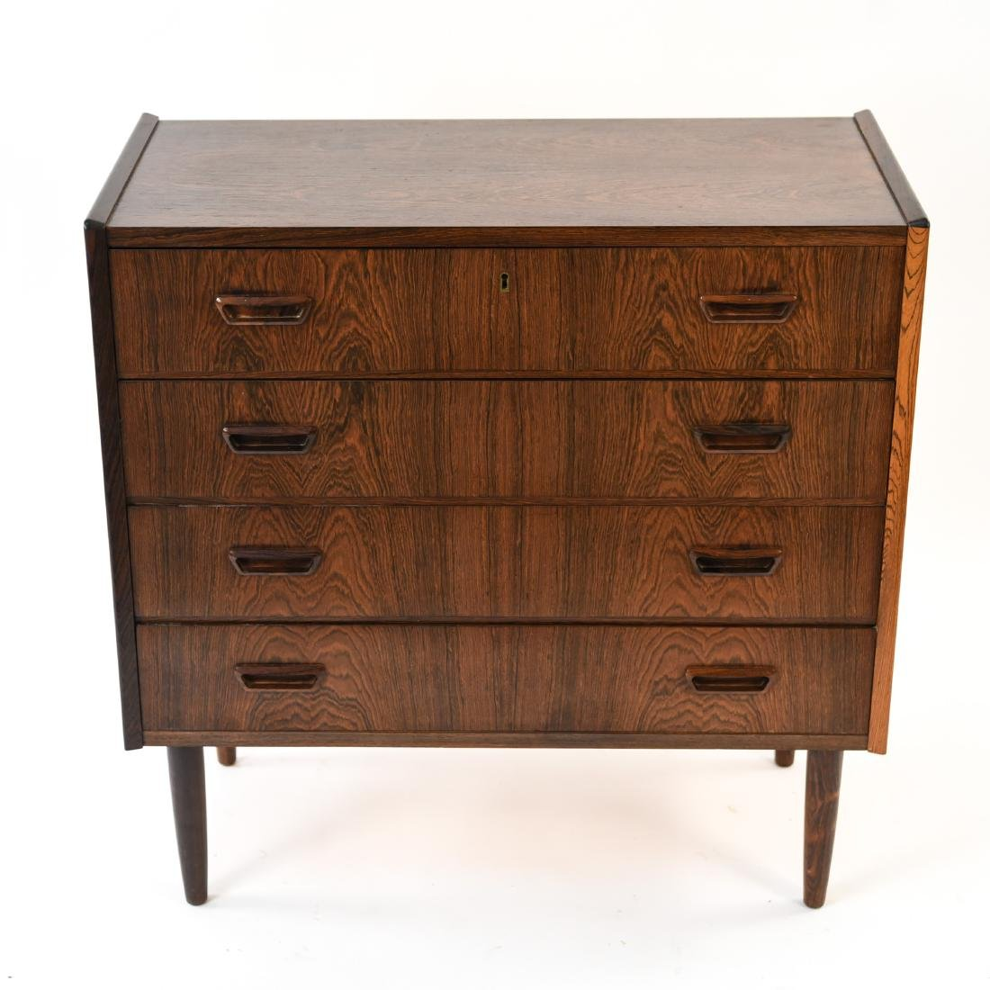 DANISH MID-CENTURY FOUR DRAWER ROSEWOOD CHEST - 2