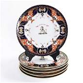 (6) CHAMBERLAINS WORCESTER PORCELAIN PLATES