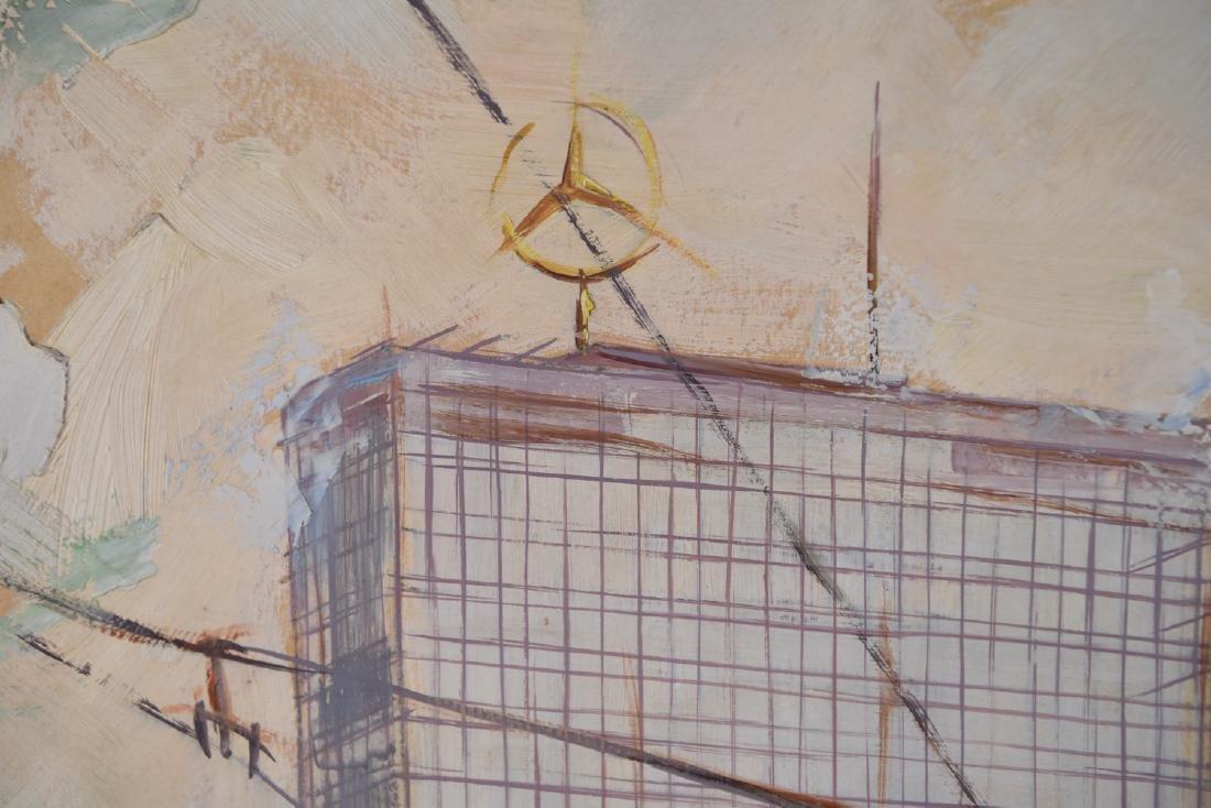MID-CENTURY OIL ON BOARD OF BERLIN - 9