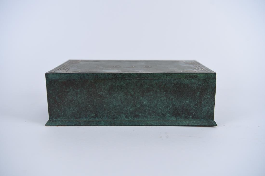 SILVER CREST STERLING ON BRONZE HUMIDOR - 2