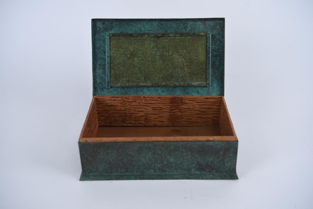 SILVER CREST STERLING ON BRONZE HUMIDOR - 3