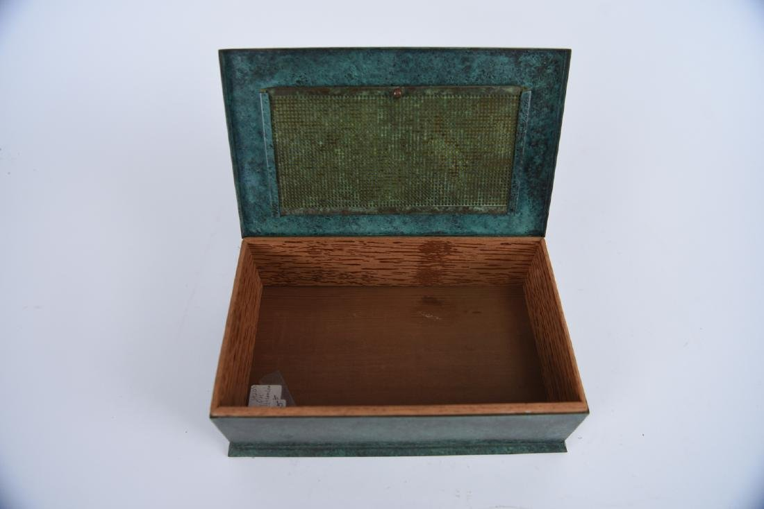 SILVER CREST STERLING ON BRONZE HUMIDOR - 4