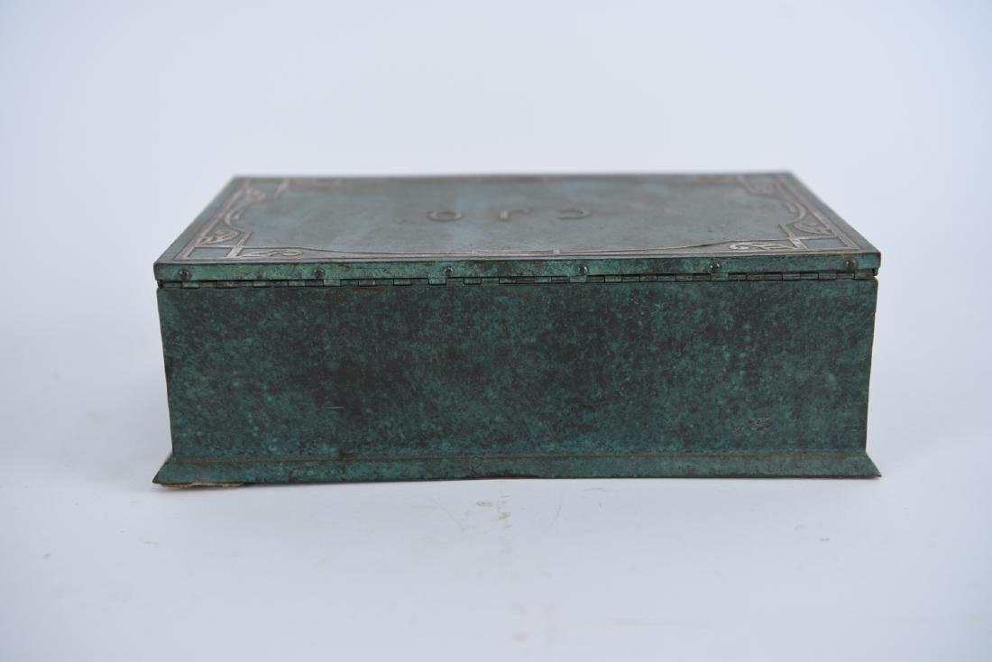 SILVER CREST STERLING ON BRONZE HUMIDOR - 9
