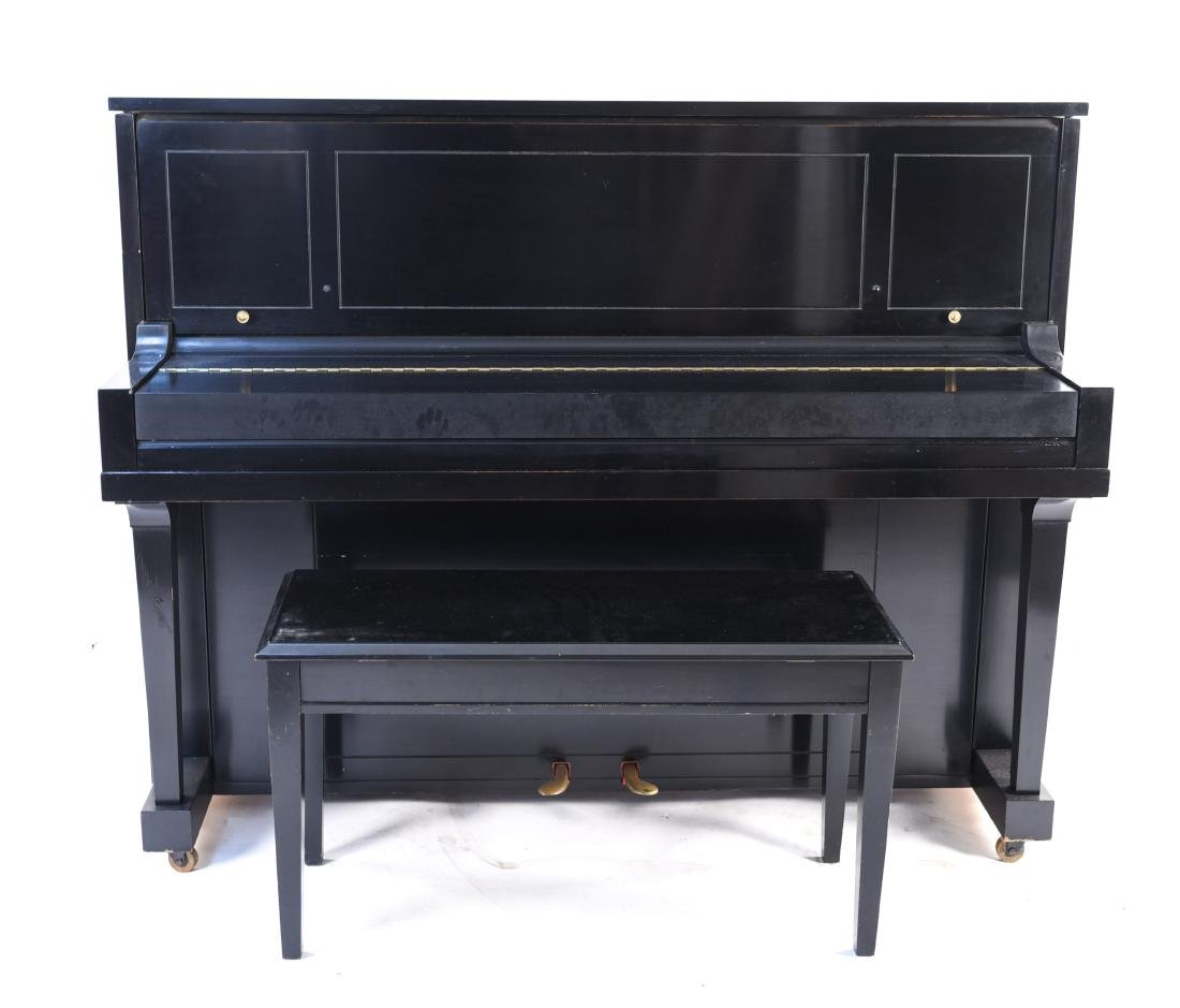 STEINWAY & SONS UPRIGHT PIANO - 12