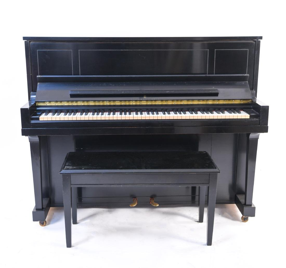 STEINWAY & SONS UPRIGHT PIANO - 2