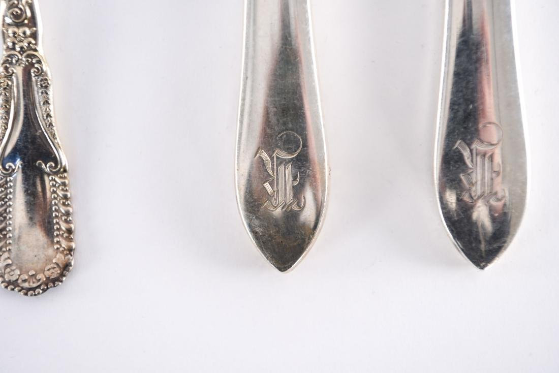 GROUPING OF STERLING & SILVERPLATE FLATWARE ETC. - 6
