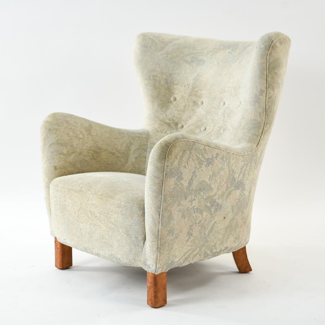 FRITZ HANSEN MODEL 1669 STYLE WINGBACK EASY CHAIR