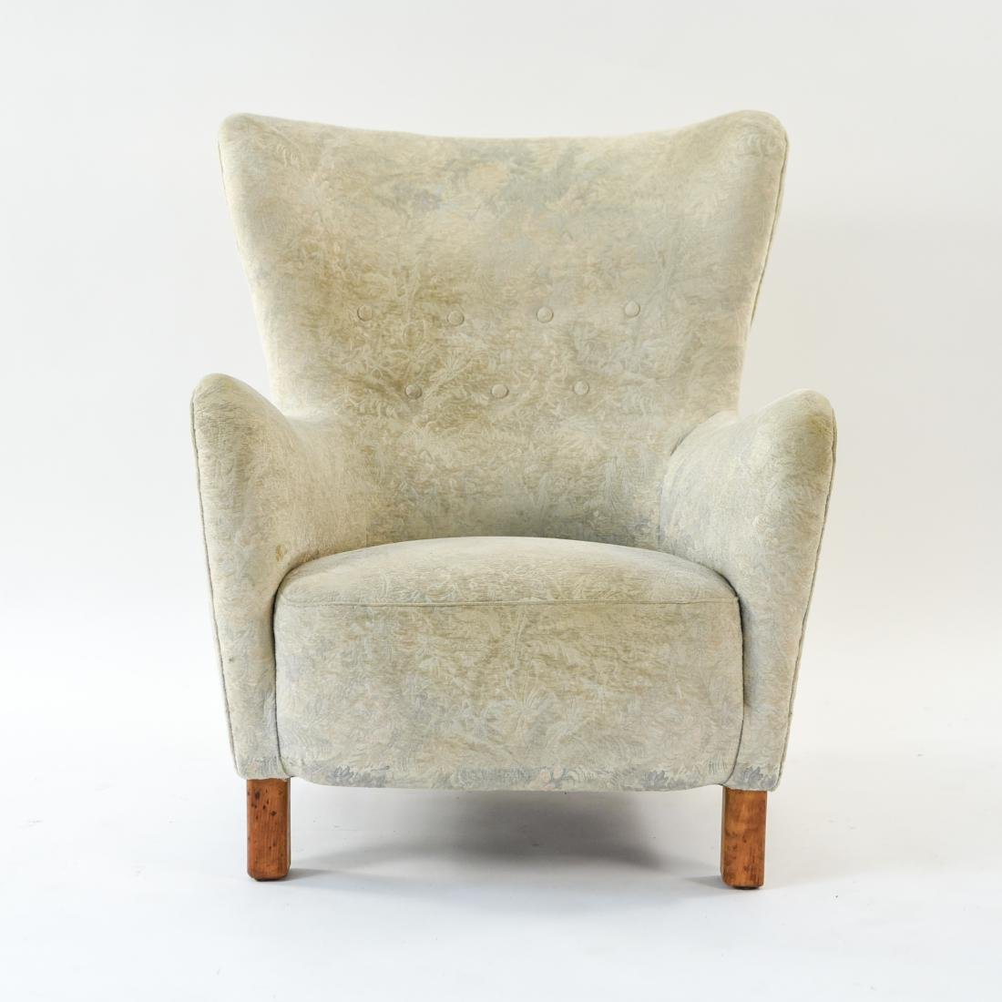 FRITZ HANSEN MODEL 1669 STYLE WINGBACK EASY CHAIR - 2