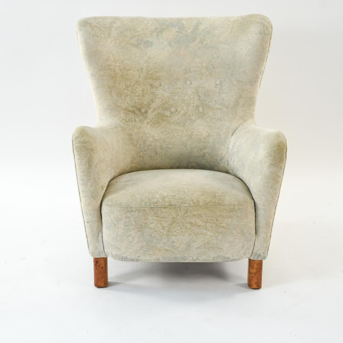 FRITZ HANSEN MODEL 1669 STYLE WINGBACK EASY CHAIR - 3