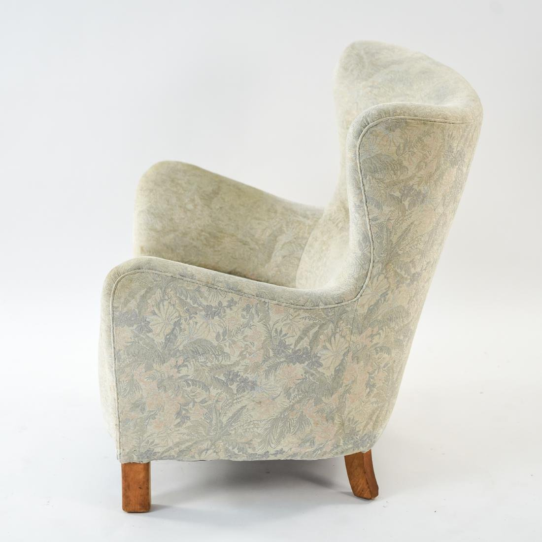 FRITZ HANSEN MODEL 1669 STYLE WINGBACK EASY CHAIR - 9