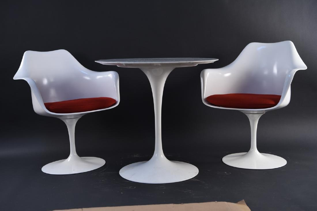 SAARINEN FOR KNOLL TULIP DINING TABLE & ARMCHAIRS - 10