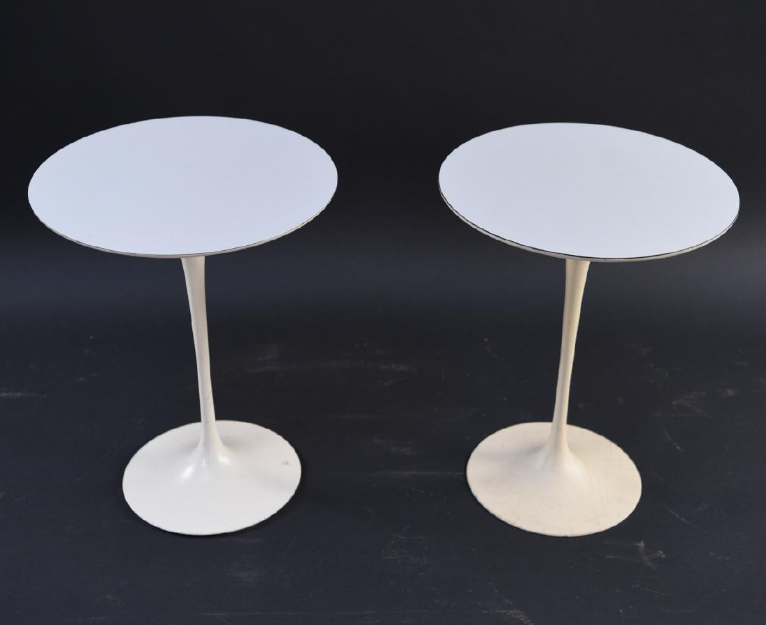 PAIR OF SAARINEN FOR KNOLL DRINK STANDS - 3