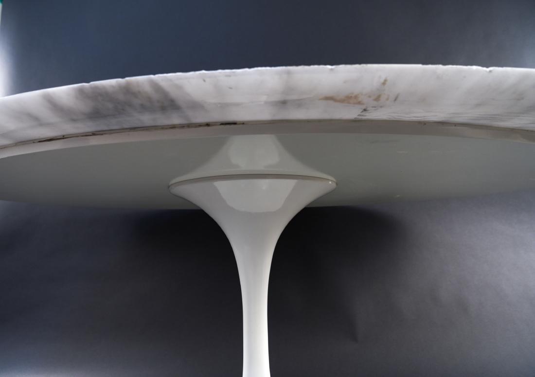 KNOLL EERO SAARINEN MARBLE TOP TULIP DINING TABLE - 10