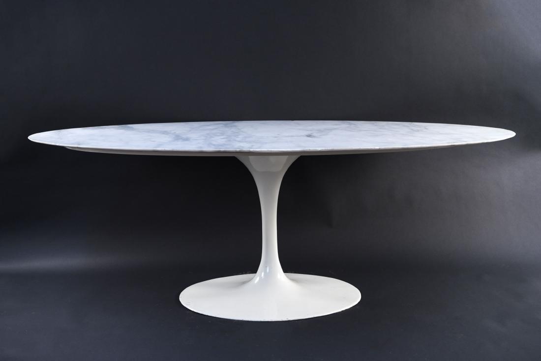 KNOLL EERO SAARINEN MARBLE TOP TULIP DINING TABLE