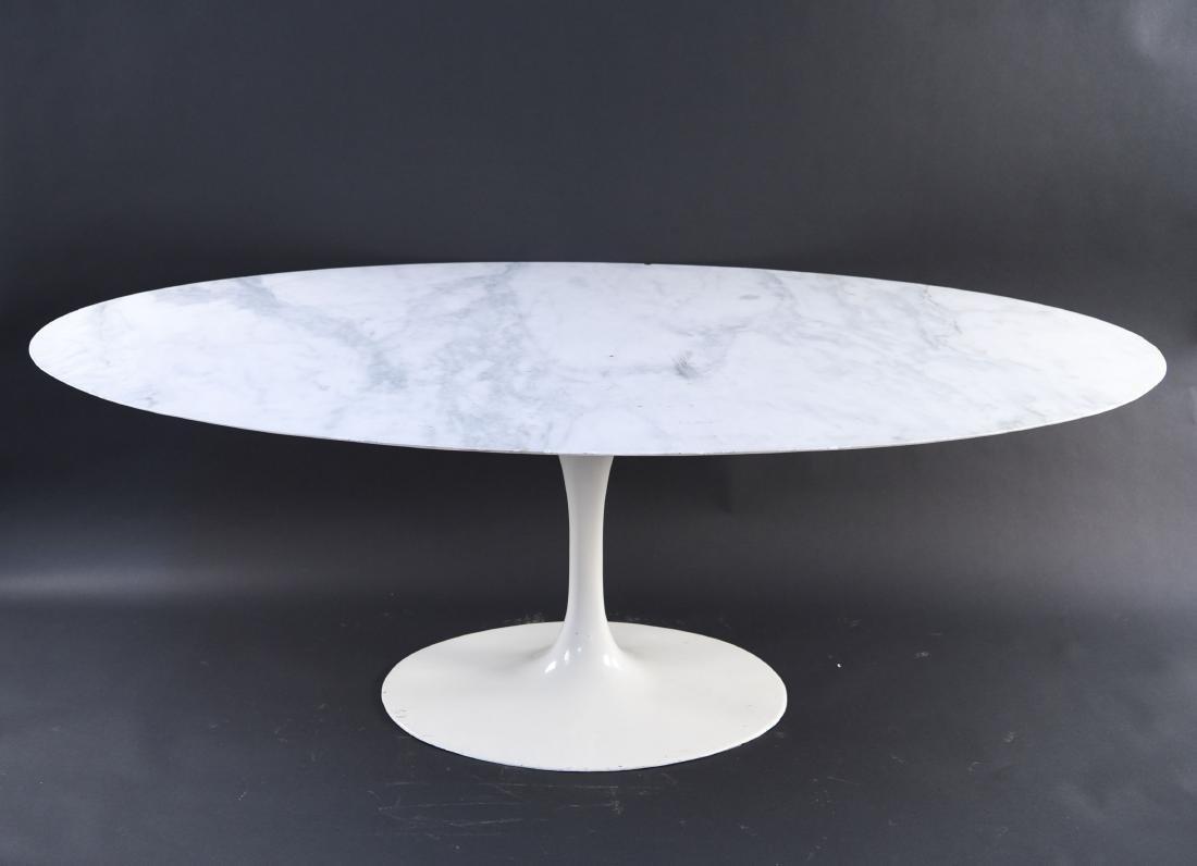KNOLL EERO SAARINEN MARBLE TOP TULIP DINING TABLE - 2