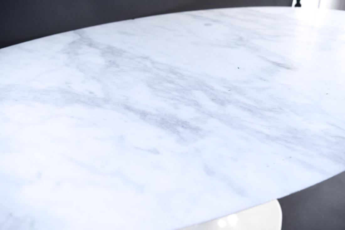 KNOLL EERO SAARINEN MARBLE TOP TULIP DINING TABLE - 7