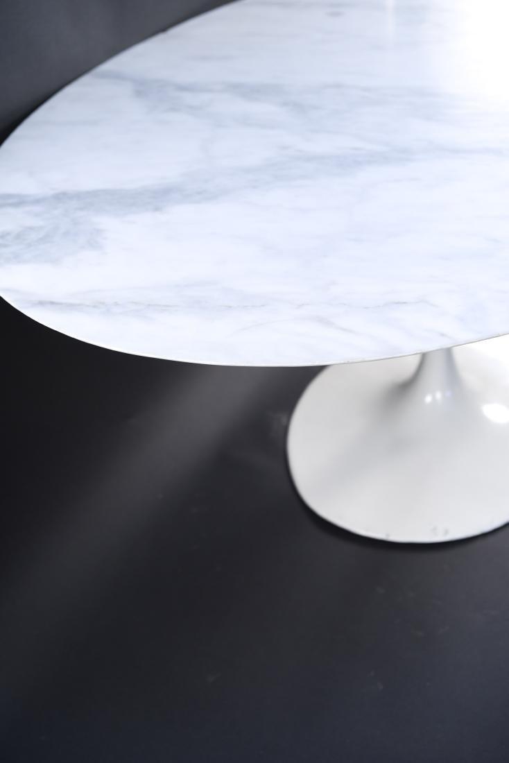 KNOLL EERO SAARINEN MARBLE TOP TULIP DINING TABLE - 8