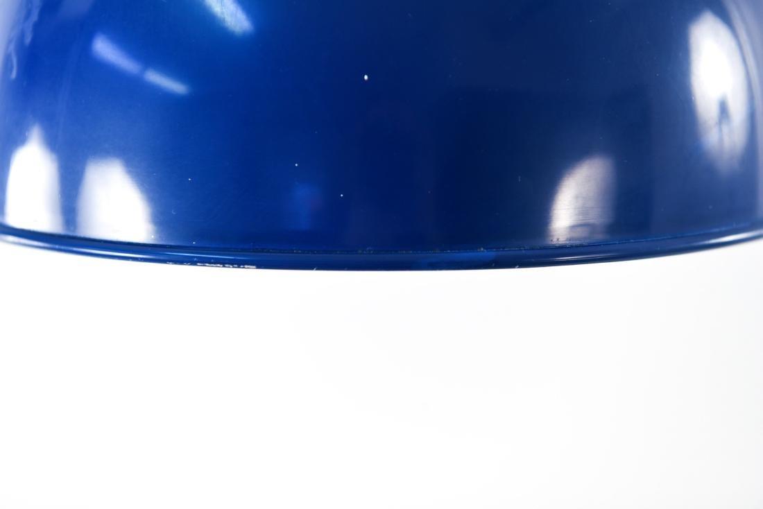 PAIR OF DANISH BLUE MID-CENTURY PENDANT LIGHTS - 6