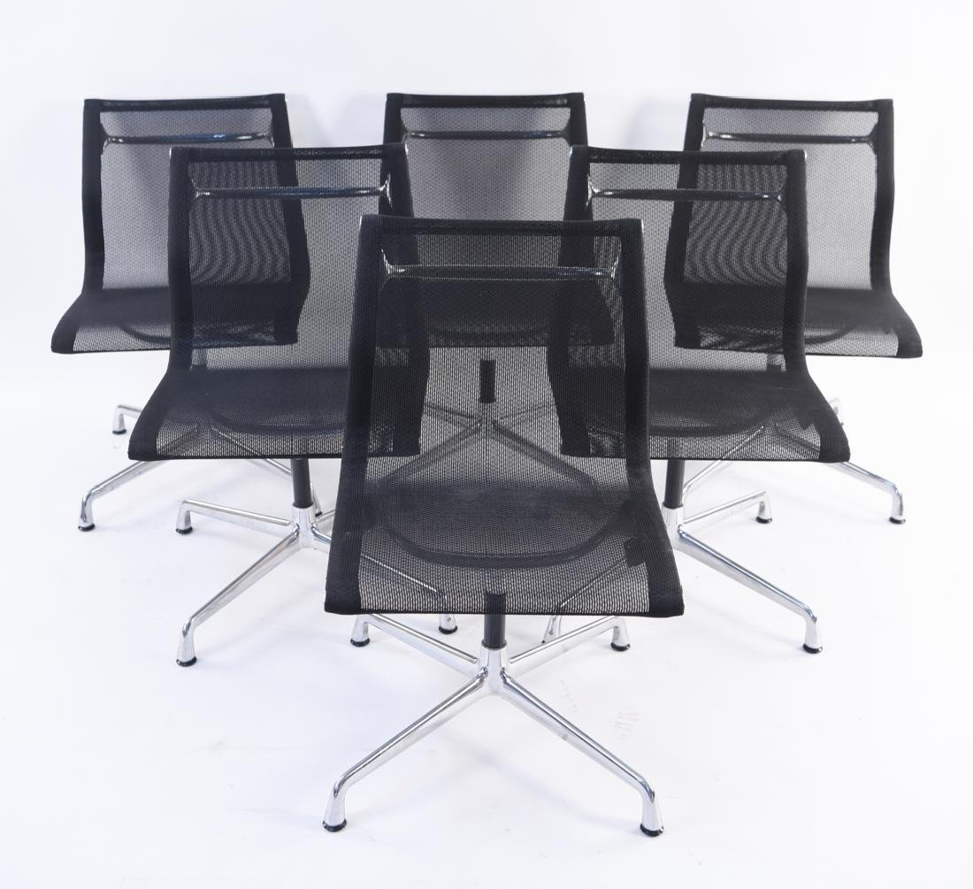 (6) HERMAN MILLER EAMES MESH CHAIRS - 2