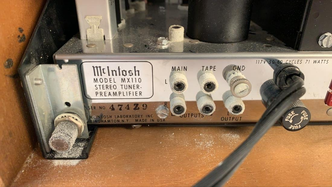 MCINTOSH MODEL MX110 STEREO TUNER PREAMPLIFIER - 7