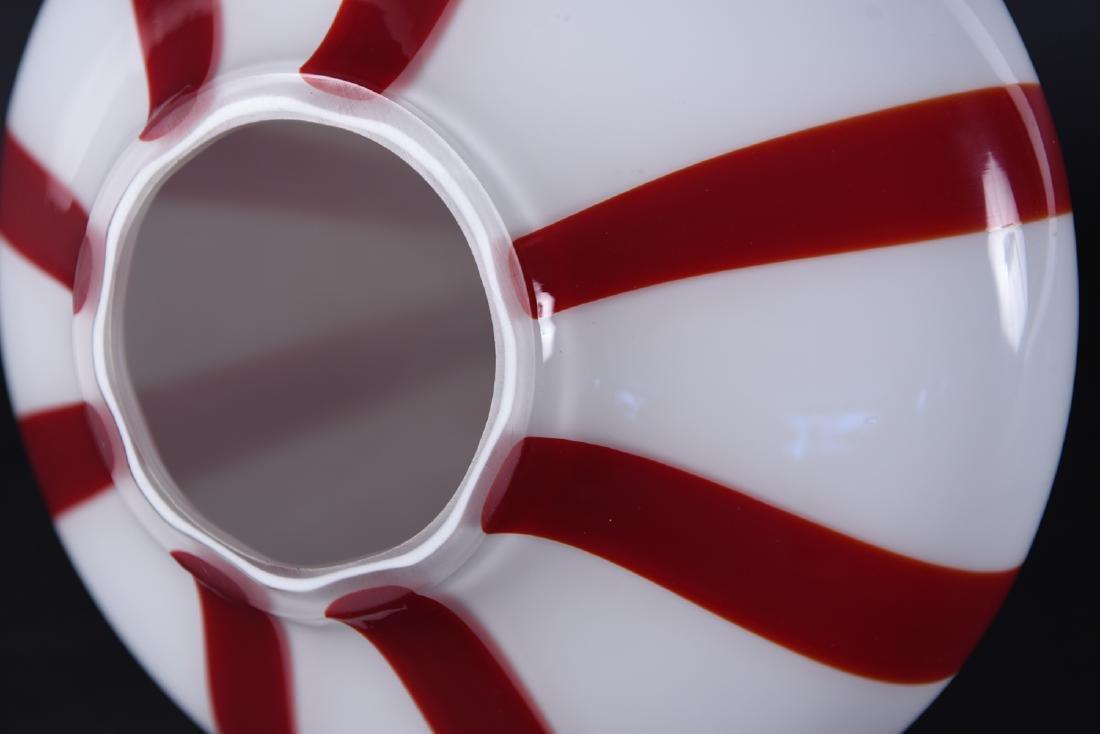 VIGNELLI FOR VENINI ITALIAN GLASS PENDANT LAMP - 10