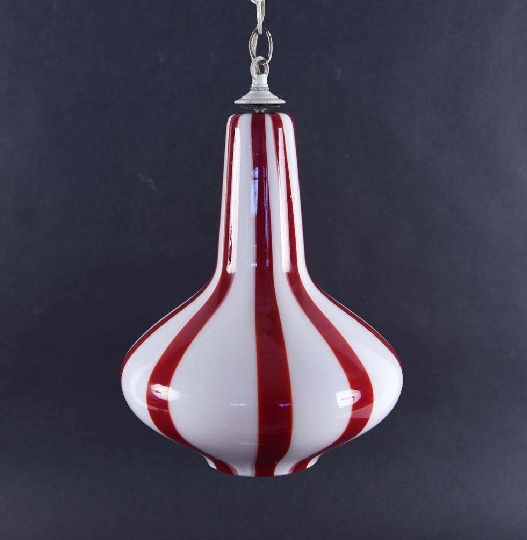 VIGNELLI FOR VENINI ITALIAN GLASS PENDANT LAMP