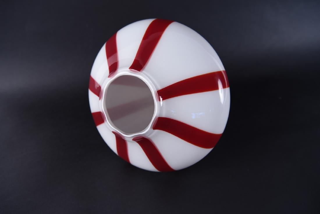 VIGNELLI FOR VENINI ITALIAN GLASS PENDANT LAMP - 9