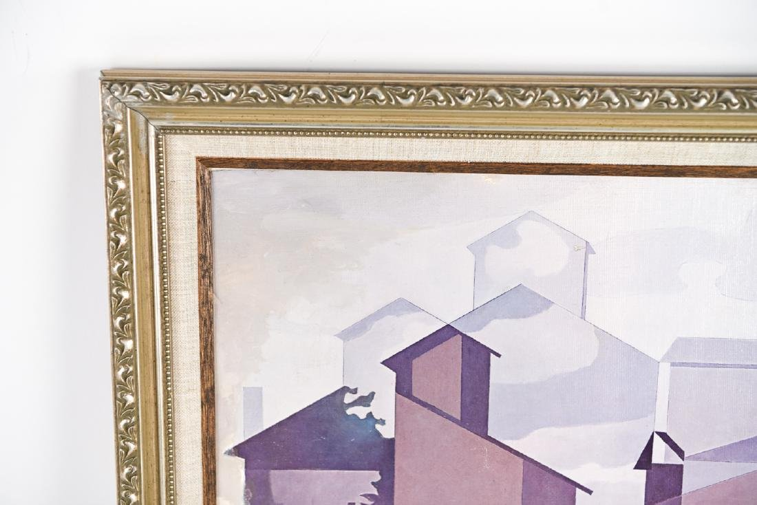 AFTER SHEELER OIL ON PAPER ON CANVAS - 2