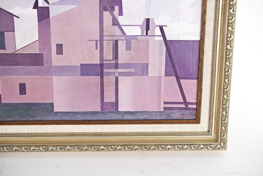 AFTER SHEELER OIL ON PAPER ON CANVAS - 5