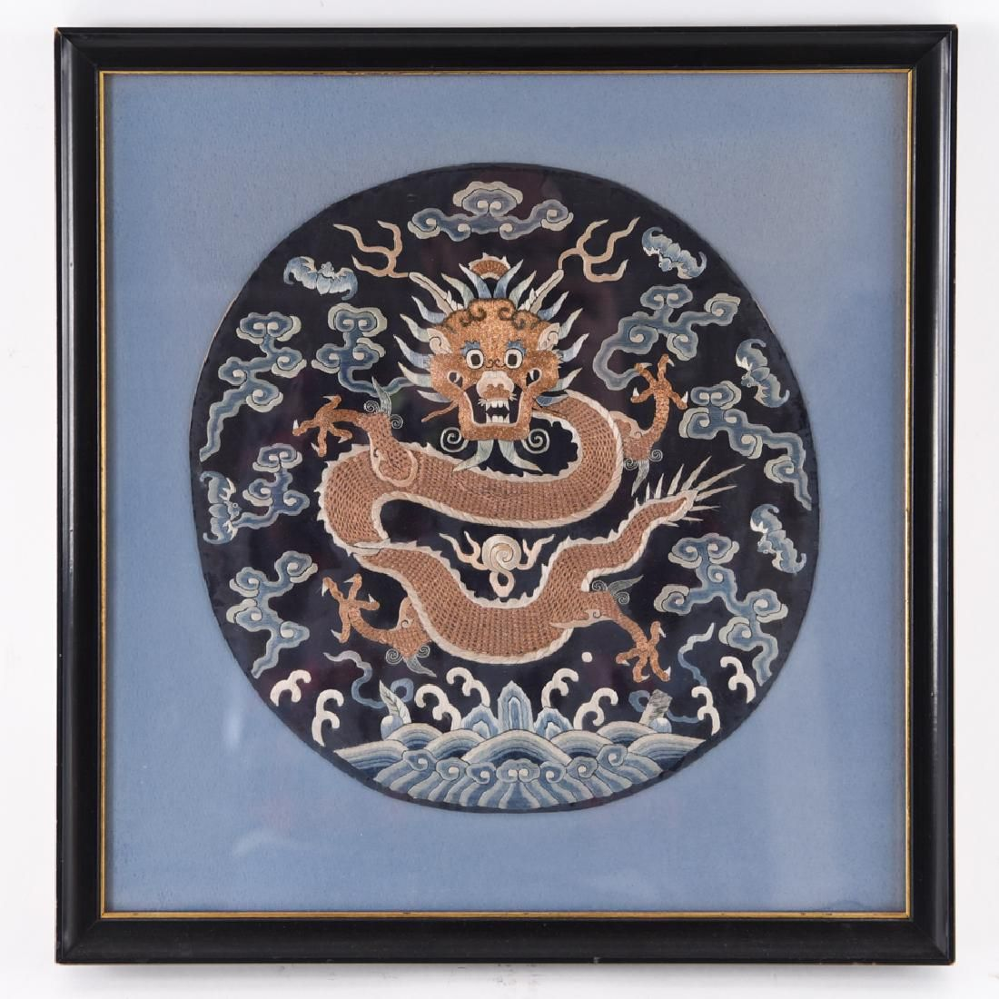 ANTIQUE CHINESE DRAGON BADGE EMBROIDERY