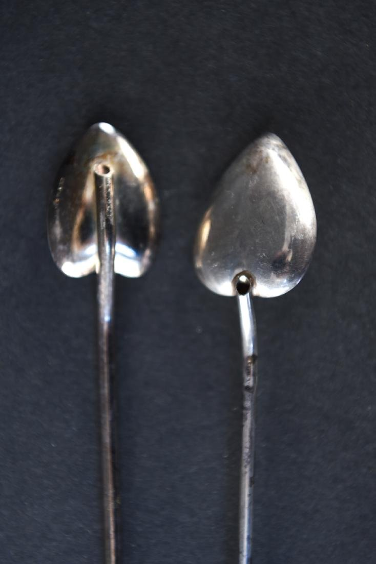 GROUPING CARTIER & MEXICAN STERLING SILVER SPOONS - 8