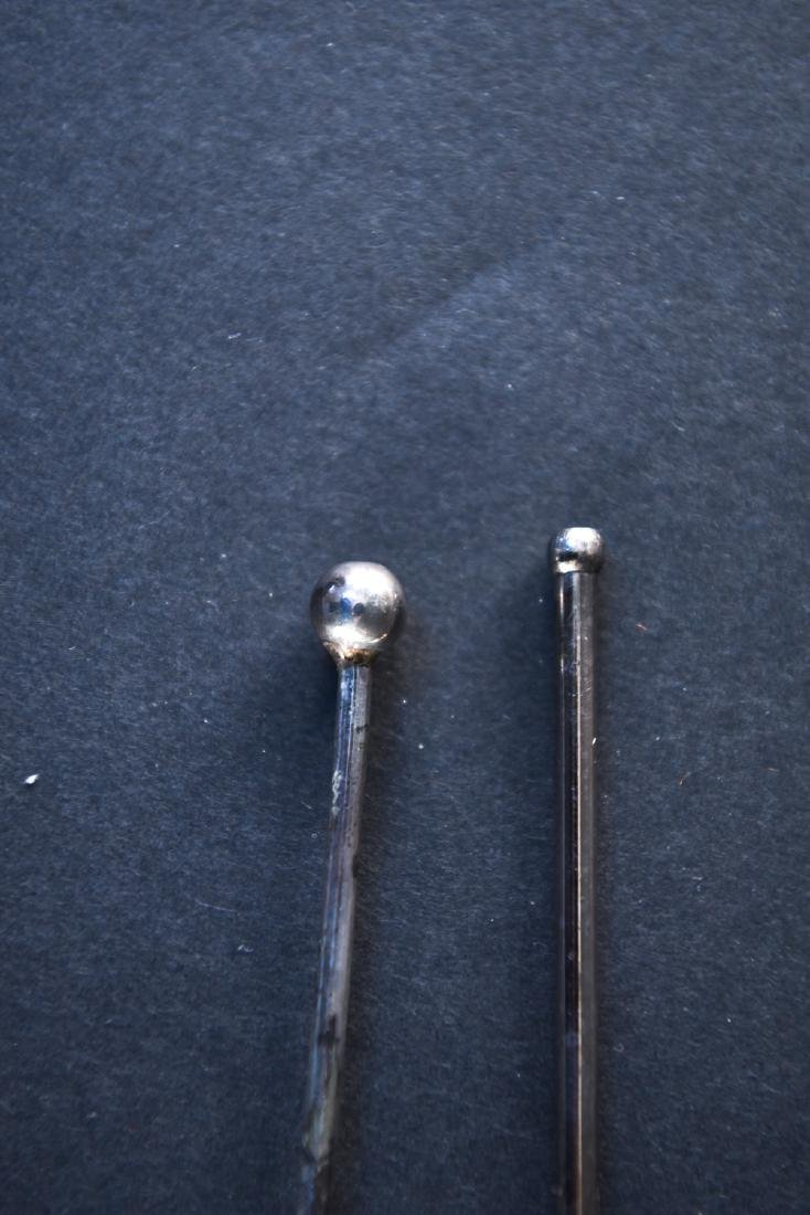 GROUPING CARTIER & MEXICAN STERLING SILVER SPOONS - 9