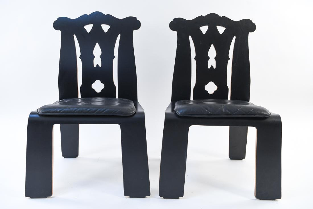 PAIR ROBERT VENTURI KNOLL CHIPPENDALE SIDE CHAIRS