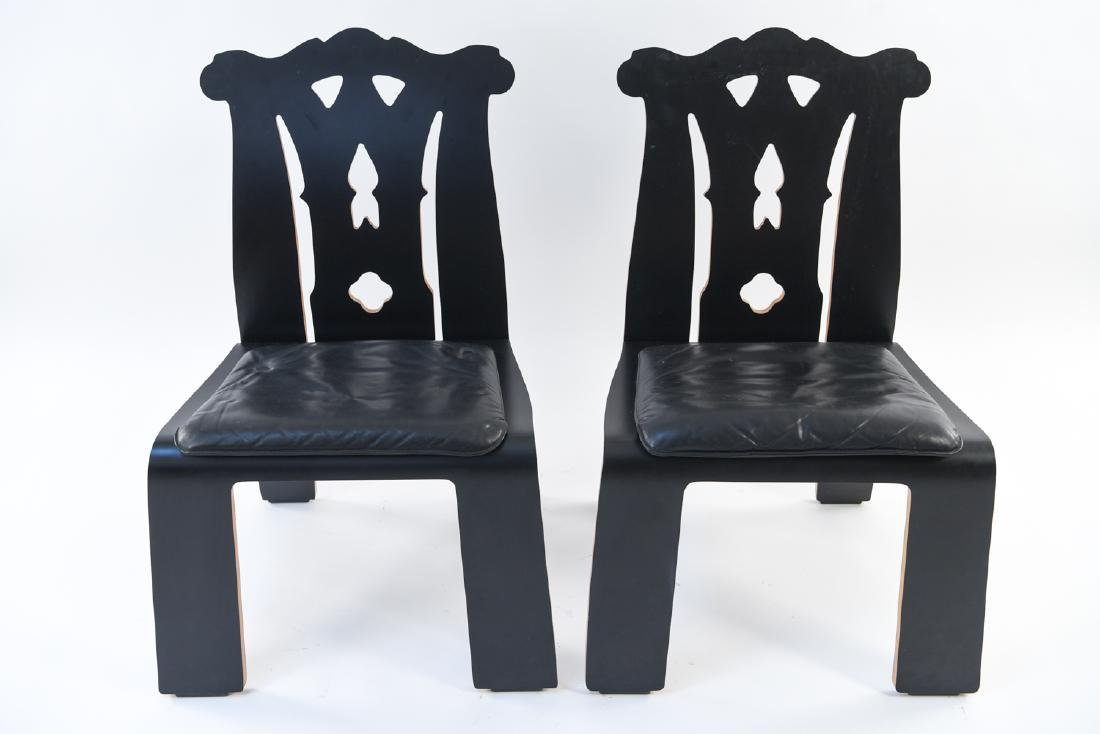PAIR ROBERT VENTURI KNOLL CHIPPENDALE SIDE CHAIRS - 2