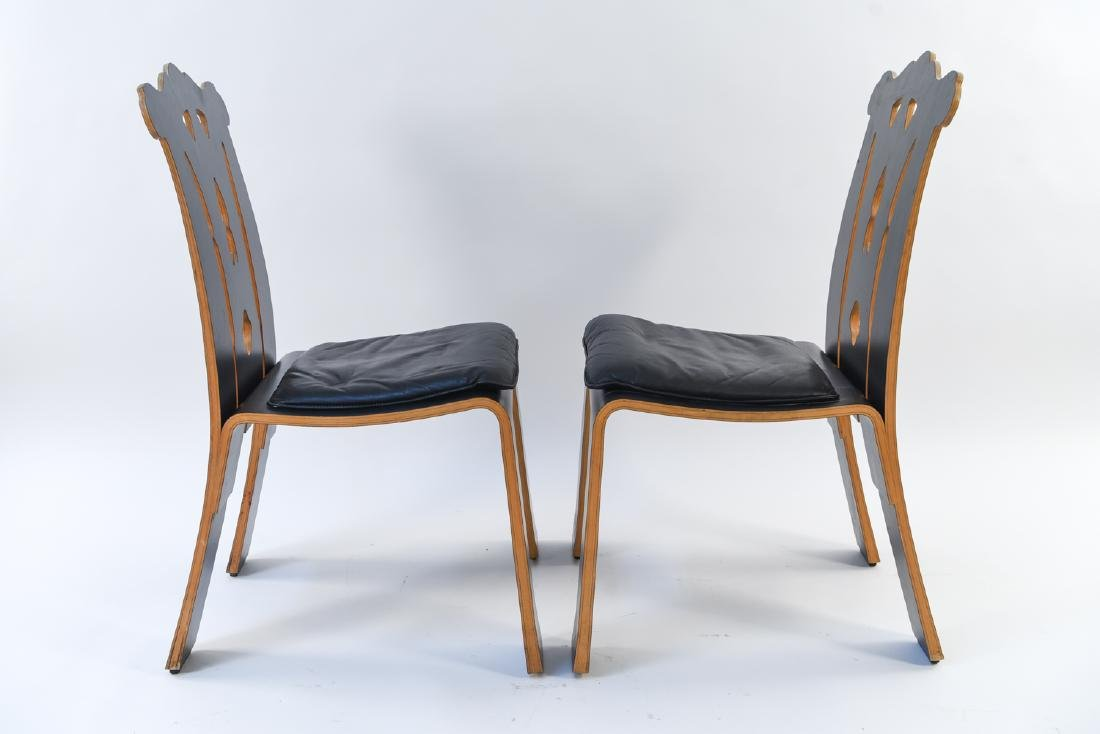 PAIR ROBERT VENTURI KNOLL CHIPPENDALE SIDE CHAIRS - 6