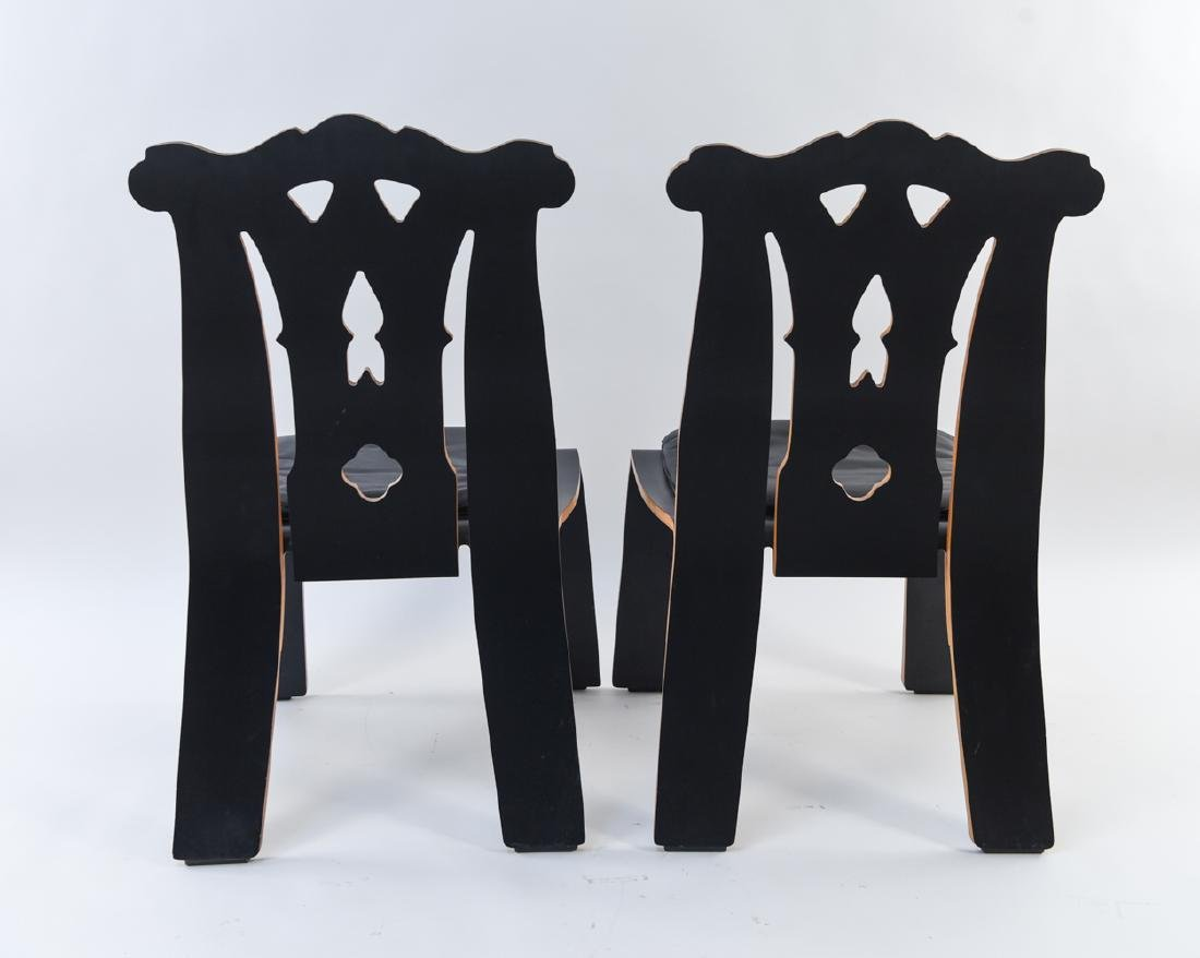 PAIR ROBERT VENTURI KNOLL CHIPPENDALE SIDE CHAIRS - 9