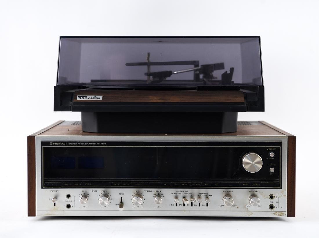 VINTAGE PIONEER RECEIVER AND BSR RECORD PLAYER