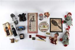 GROUPING OF VINTAGE ADVERTISING AND COLLECTIBLES
