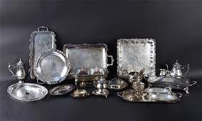 LARGE GROUPING OF SILVERPLATE