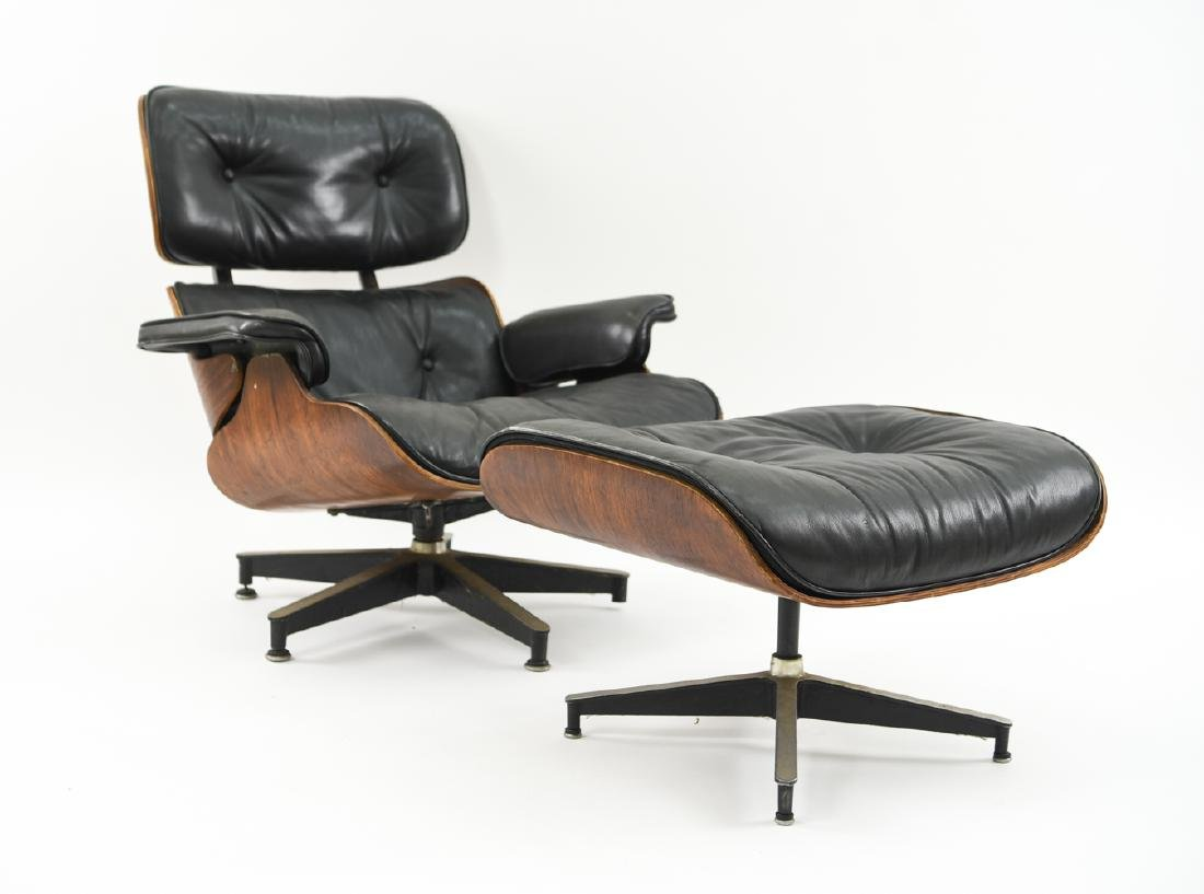 1950S HERMAN MILLER EAMES LOUNGE CHAIR & OTTOMAN