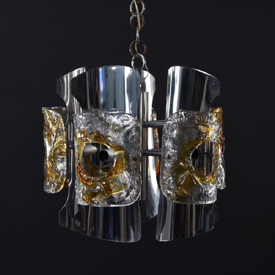 MAZZEGA ITALIAN CHROME & MURANO GLASS PENDANT
